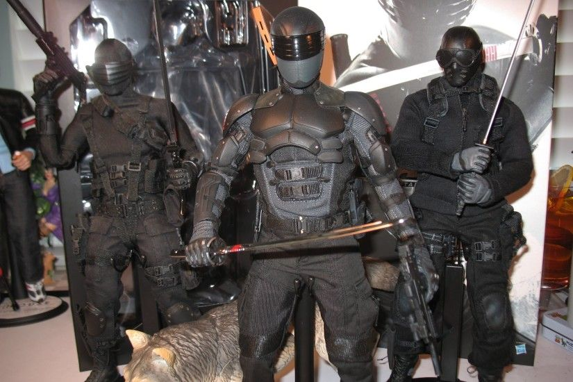 "12"" 1/6 Hot Toys SNAKE EYES G.I. JOE RETALIATION movie figure! Commando  Ninja! Storm Shadow! Timber! - YouTube"