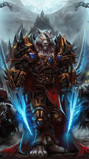 1080x1920 Wallpaper world of warcraft, worgen, character, arm, mountain