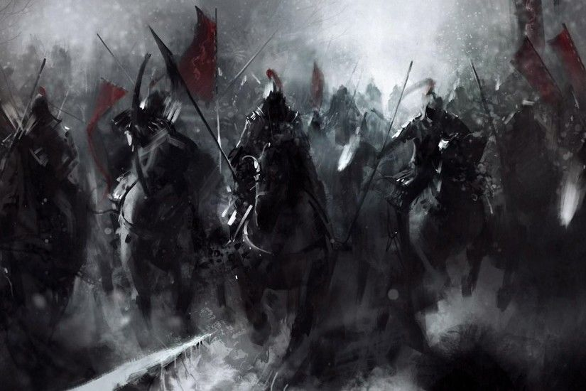 Dark Fantasy Horsemen Wallpaper