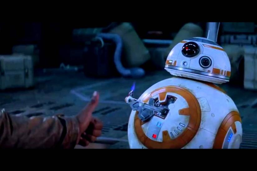 BB-8 Thumbs Up With Finn Scene [HD] (1080p) From Star Wars The Force  Awakens - YouTube