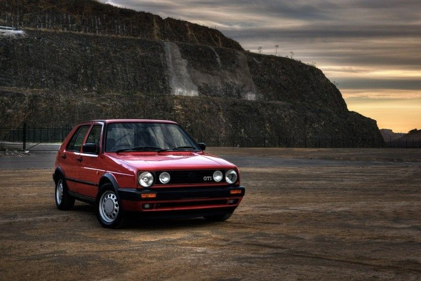 gti mk2 vehicles red classic golf volkswagen vw