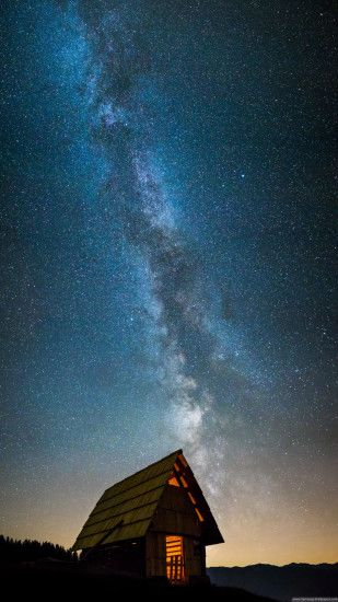 ... Milky Way House Stock 1080x1920 Samsung Galaxy S5 Wallpaper HD ...