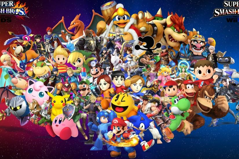 free download smash bros wallpaper 2732x1536 for android tablet