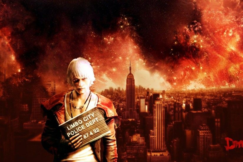 Preview wallpaper devil may cry, dante, city, sky, look 3840x2160