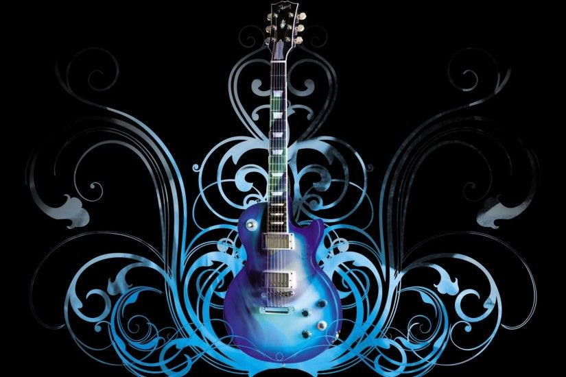 Preview wallpaper guitar, blue, pattern, style 1920x1080