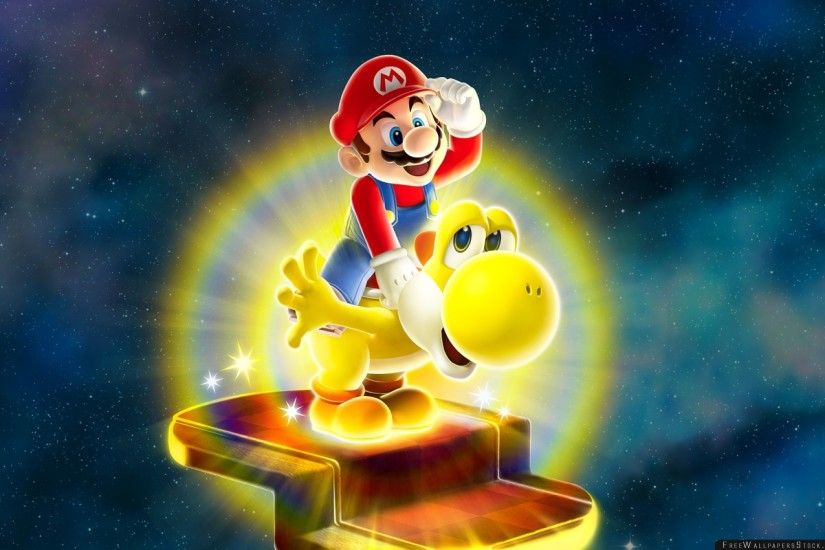 Download Free Wallpaper Super Mario Galaxy Dinosaur Yellow Yoshi
