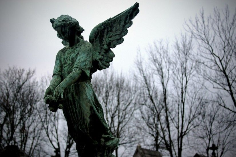 Angel on Cemetery Desktop Nexus Wallpapers