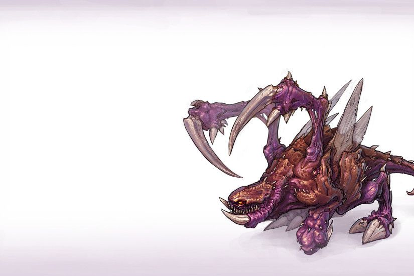 Artwork Simple Background StarCraft II Video Games Zerg Zergling ...