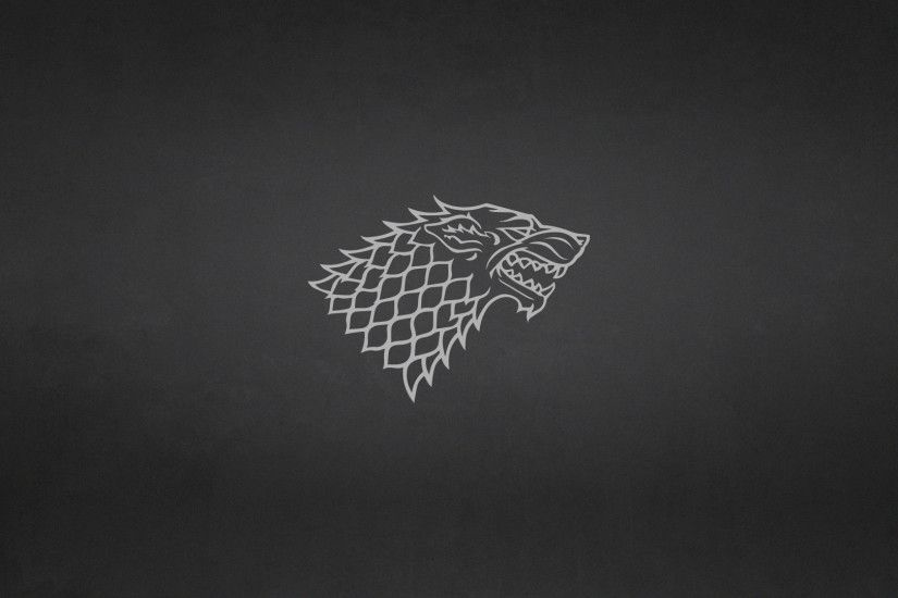 ... Game of Thrones: House Stark Minimalist Wallpaper by elbarnzo