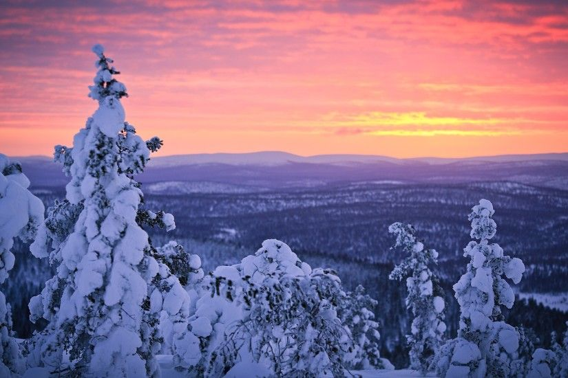 Lapland Snow Finland Wallpaper