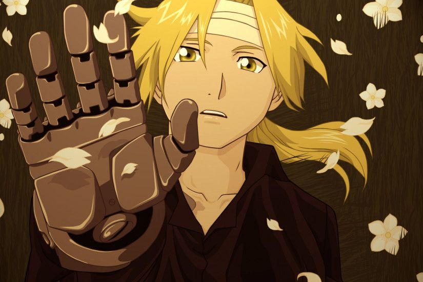 Preview wallpaper fullmetal alchemist, elric edward, man, hand, glove  1920x1080