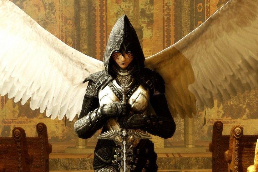 fantasy sword armor angel wallpapers - full HD backgrounds