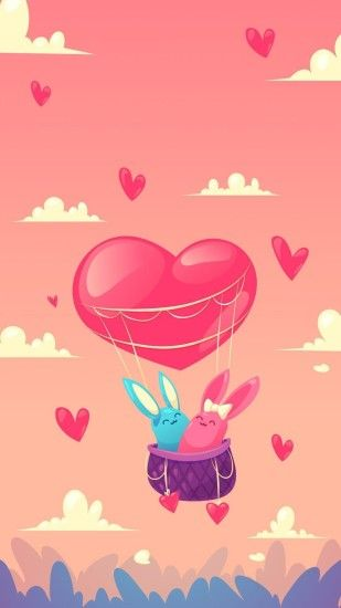 Cute Wallpapers Iphone Wallpapers Wallpaper Backgrounds Balloon  Illustration Love Wallpaper Papo