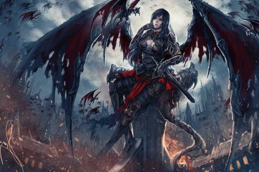 Fantasy Art Artwork Demon Evil Angel Wallpaper At Dark Wallpapers
