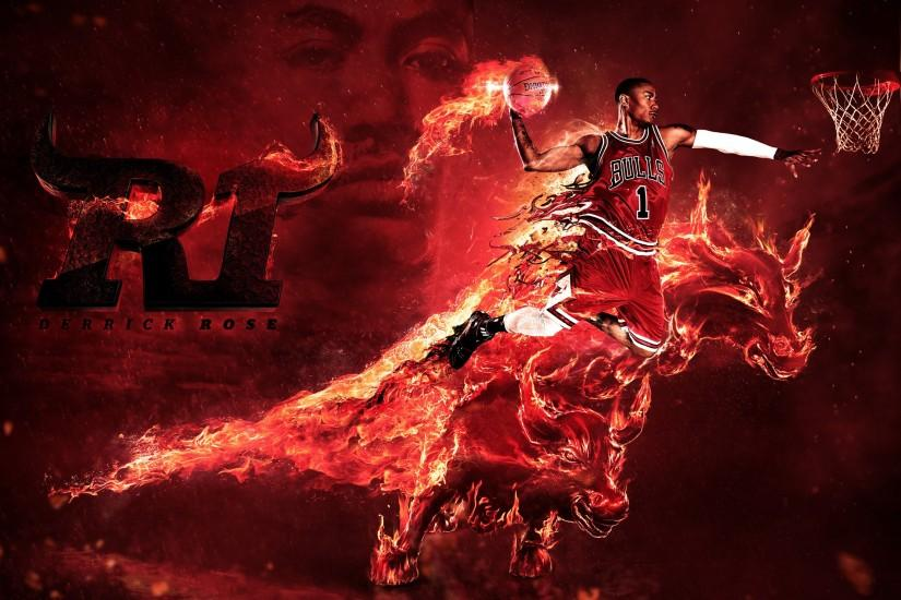 Derrick Rose Bulls High Resolution Wallpapers