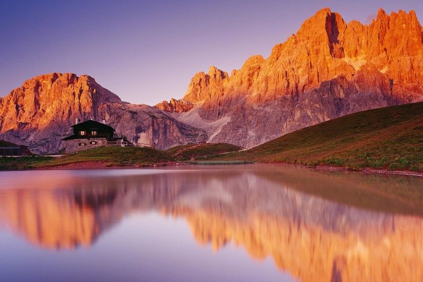 1920x1080 Mountains and the reflection scenic desktop backgrounds wide  wallpapers:1280x800,1440x900,1680x1050