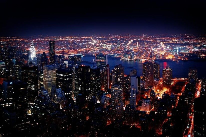 ... new york city night view hd wallpaper for desktop mobile ...