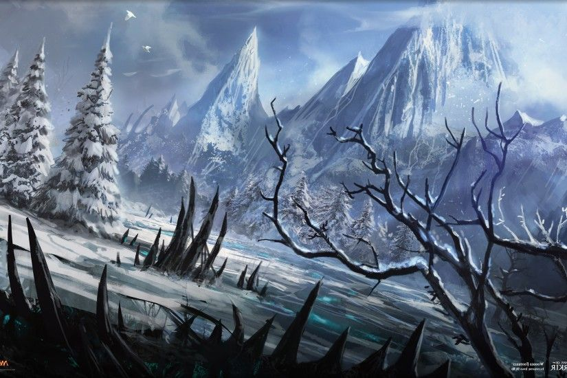 Magic: The Gathering, Magic, Winter, Snow, Landscape, Mountain Wallpapers  HD / Desktop and Mobile Backgrounds