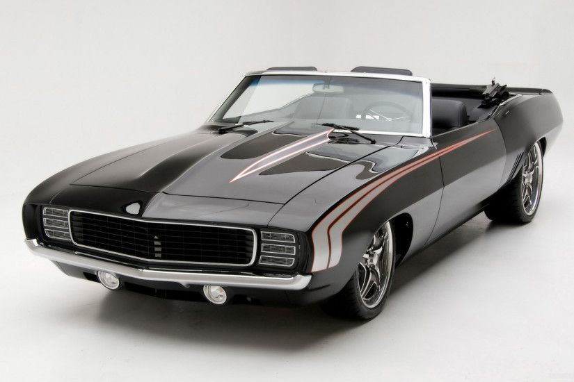 1969 Chevrolet Camaro Convertible Supercar by Modern Muscle - Front Angle  Top - - Wallpaper