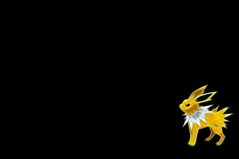 The Images of Pokemon Jolteon Black Background Fresh HD Wallpaper .