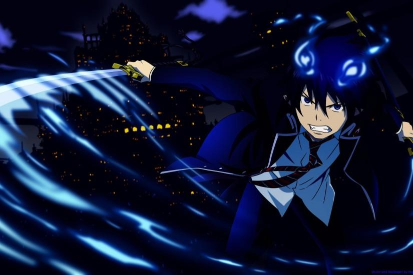gorgerous blue exorcist wallpaper 2560x1600