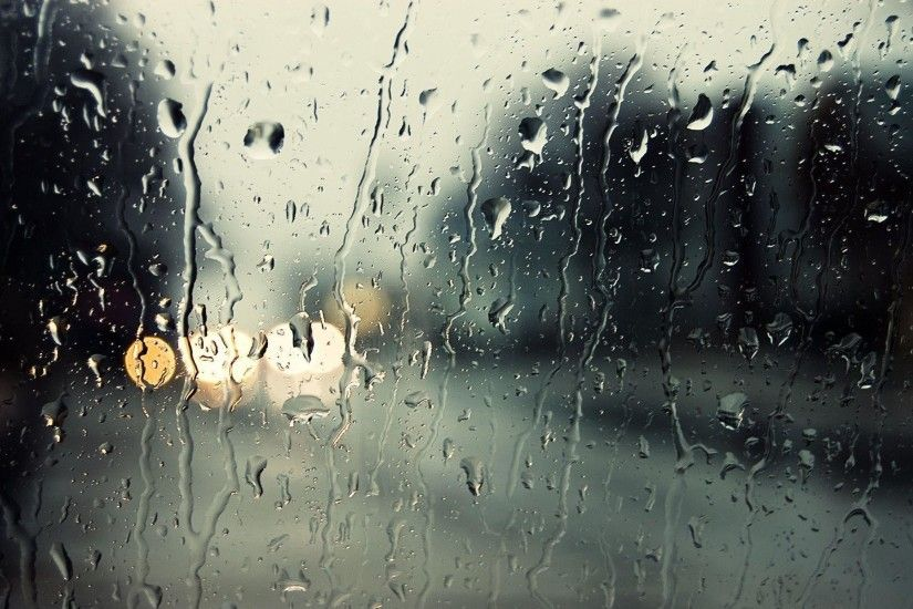 Rain in the Window Wallpaper