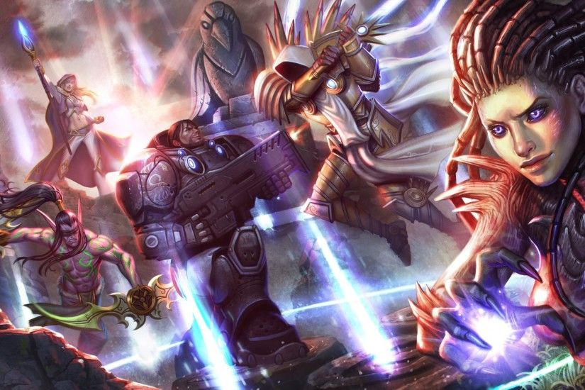 heroes of the storm tyrael archangel of justice starcraft sarah kerrigan  jim raynor illidan stormrage jaina