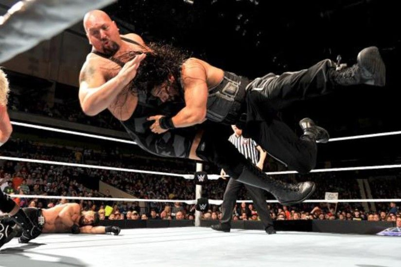 Roman Reigns Big Dog Spear HD Pics