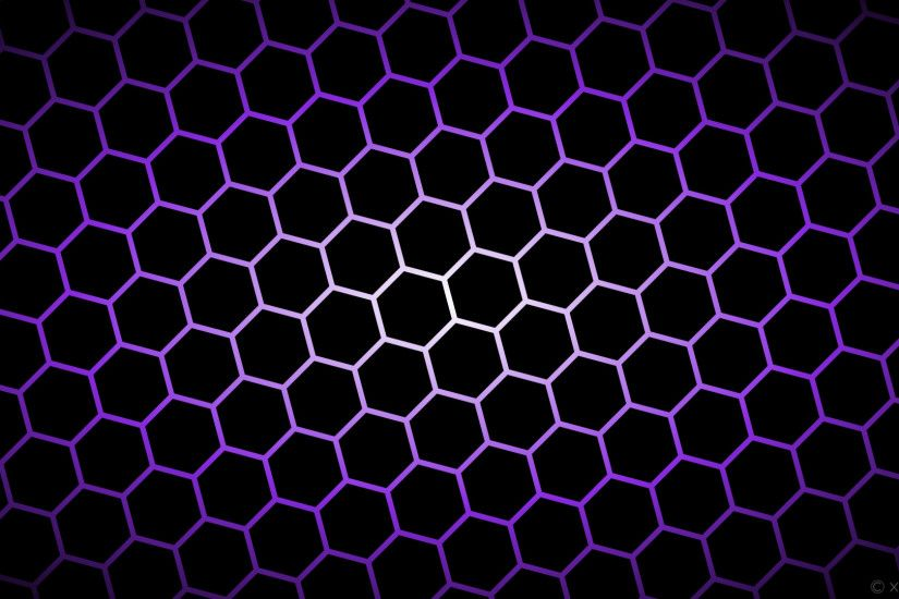 wallpaper black glow hexagon white purple gradient blue violet #000000  #ffffff #8a2be2 diagonal