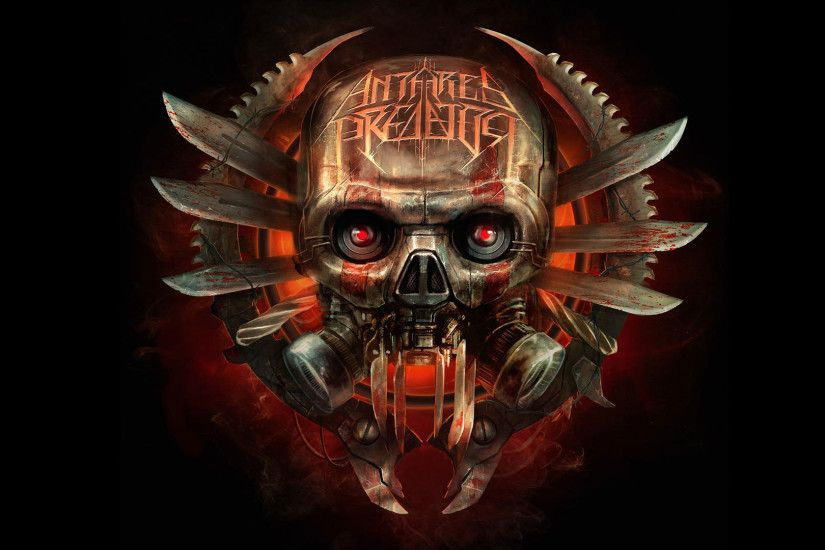 hd pics photos attractive skull danger red eye weapon 3d logo antares  predator metal hd quality