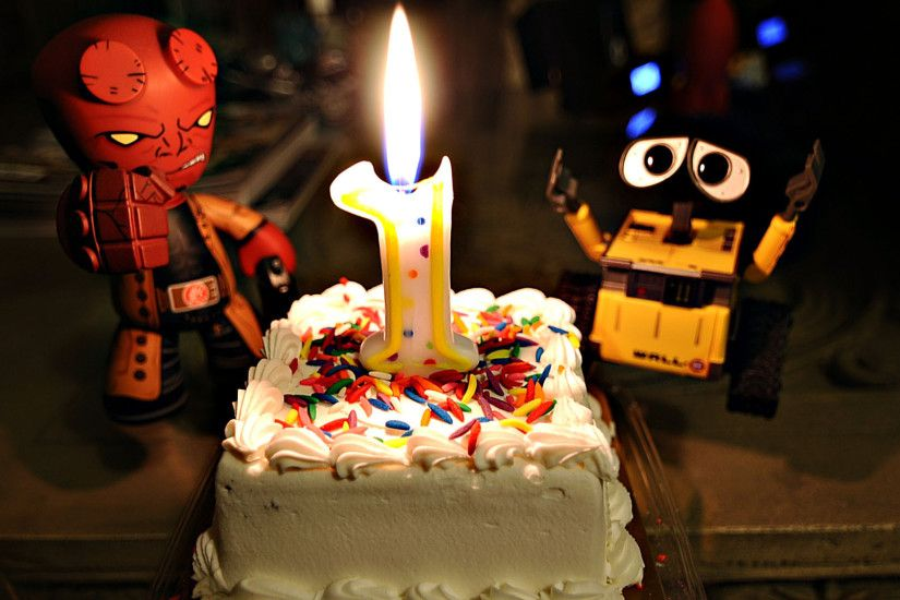 birthday, cake, year, wall-e, candle