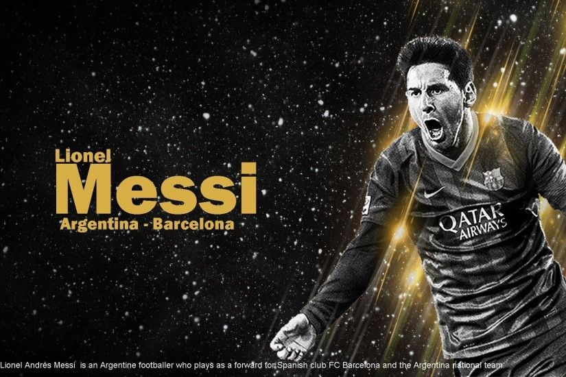Messi Wallpaper Black