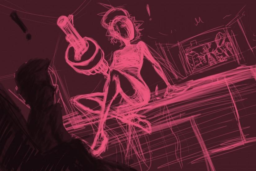 WIP-1-Skullgirls-Black Dahlia by southpawper