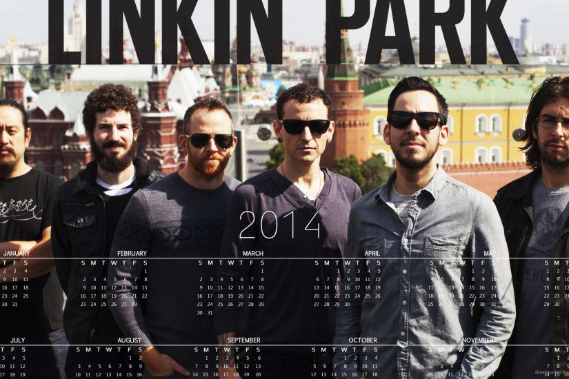 Linkin Park 2014 Calendar for 1920x1080