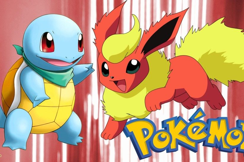 Pokemon wallpaper with flareon and Squirtle