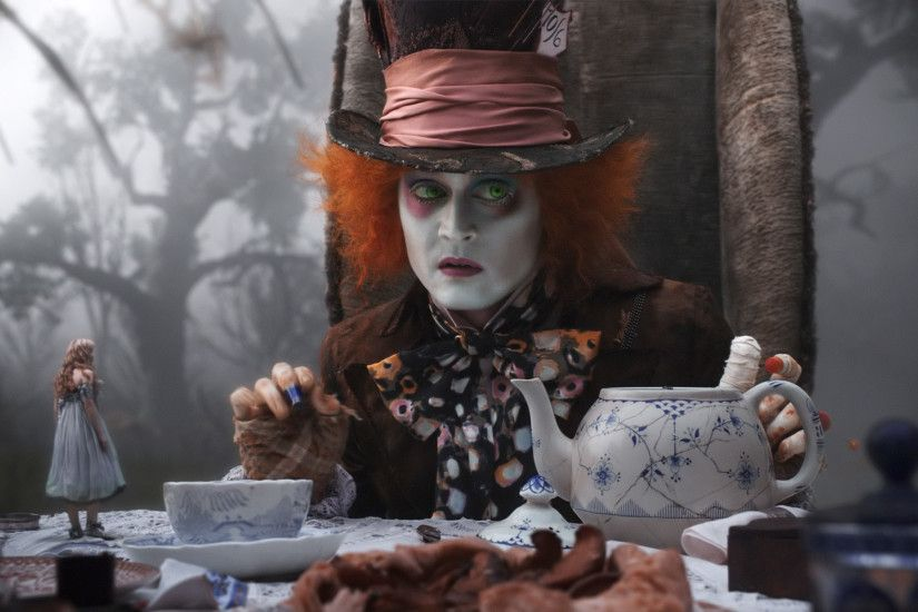 Mad Hatter Tea Party Johnny Depp wallpaper