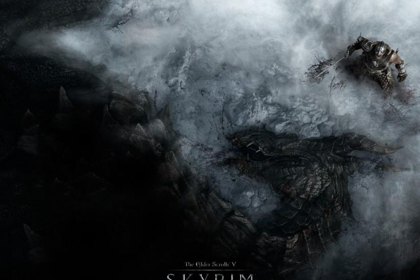 Download Wallpaper 3840x2160 The elder scrolls skyrim, Warrior, Dragon .