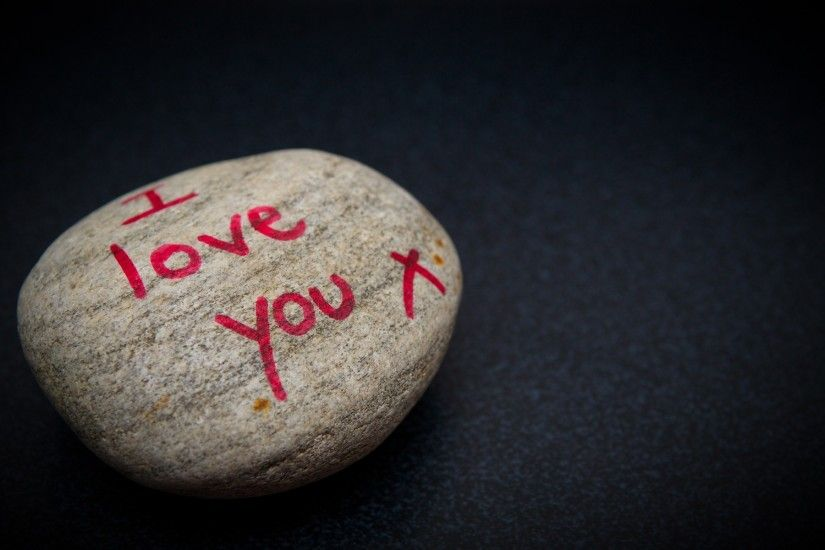 15683 Views 6363 Download I Love You Write in Stone Wallpapers