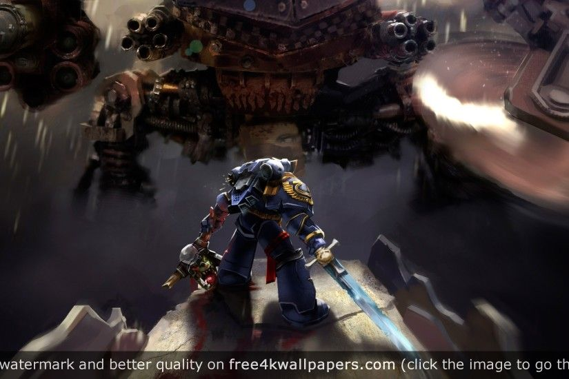 Warhammer Space Marine Ultramarines 4K wallpaper