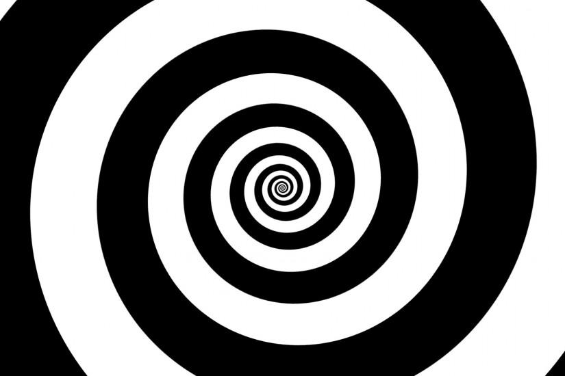 Hypnotic black and white spiral background Motion Background - VideoBlocks