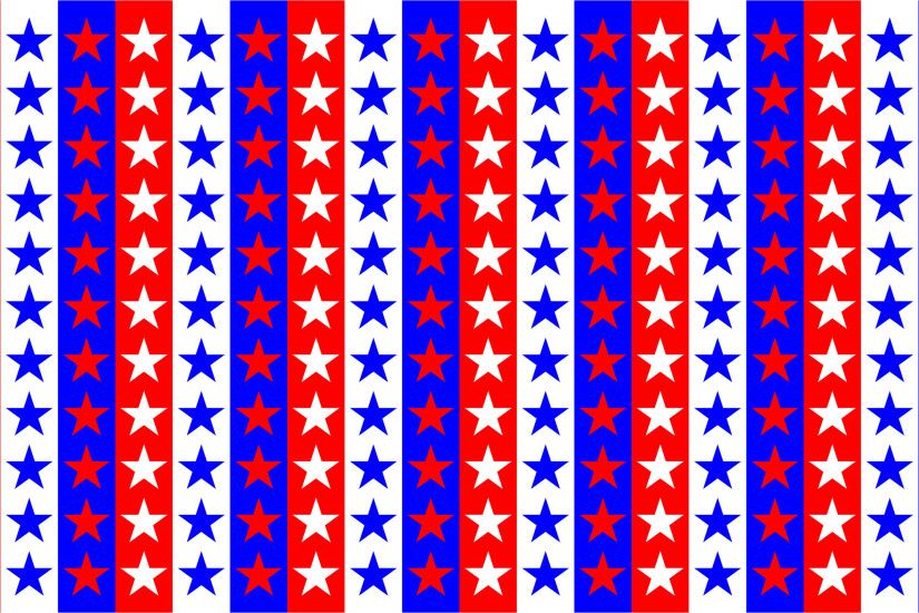 Red White Blue Stars Background