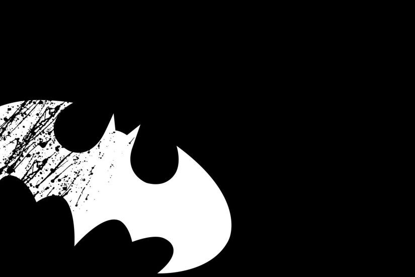 White Batman logo wallpaper