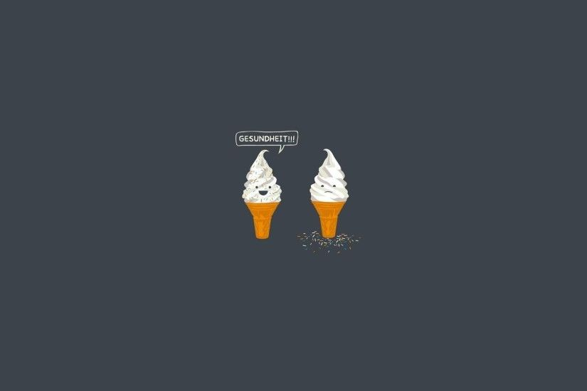 Sneezing Ice Cream Wallpaper