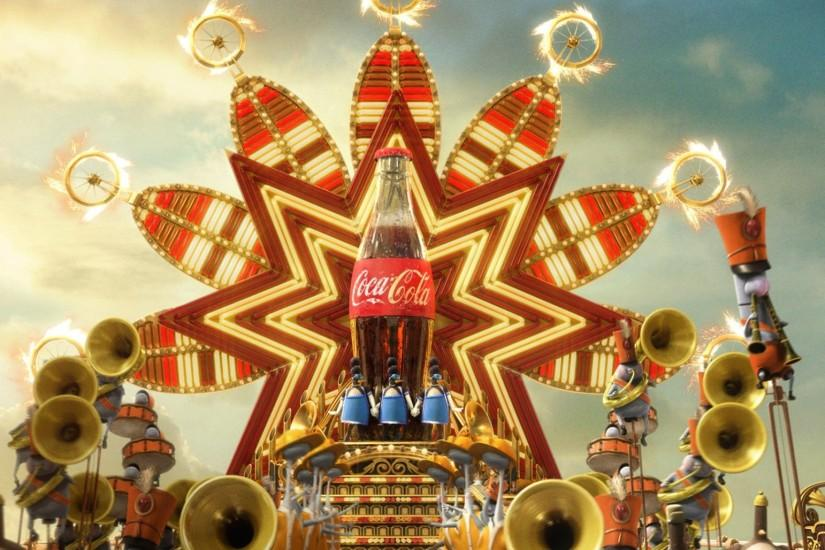 Preview wallpaper coca-cola, drink, festival 2048x1152