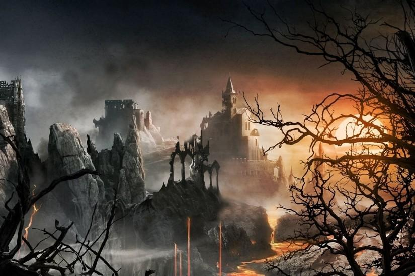Castle Ruins Fantasy Wallpaper