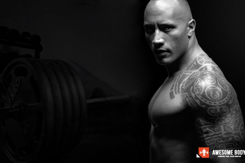 Dwayne Johnson Poster. Awesome bodybuilding wallpaper