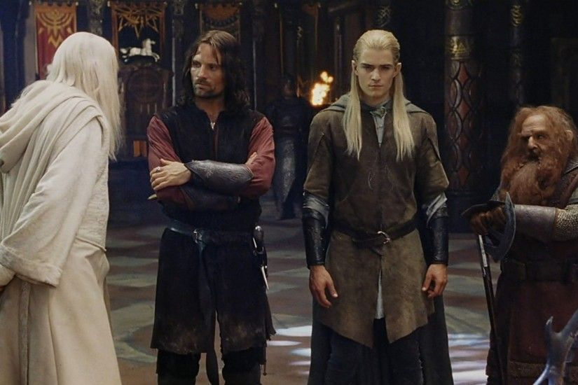 Gandalf, Aragorn, Legolas and Gimli
