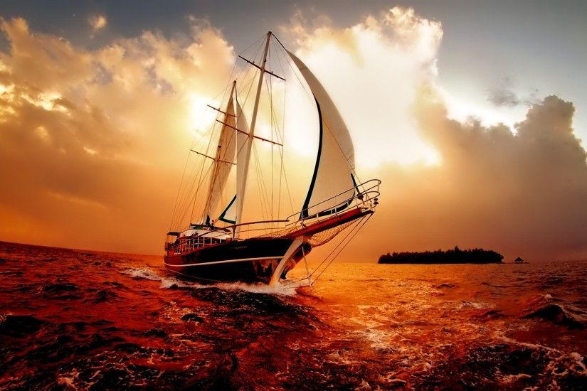 Amazing-boat-in-sea-marvelous-wallpapers 101 Awesome Wallpapers To Download