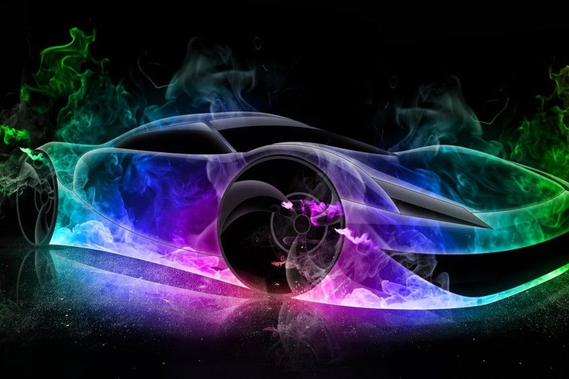 Ultra 3d colorful car high definition wallpapers