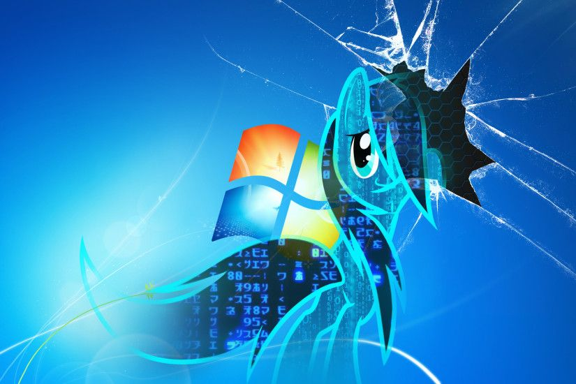 Background screen cracked virus pony.